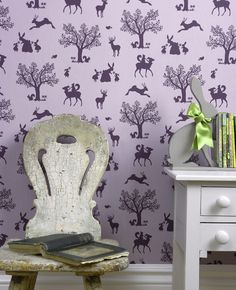 Enchanted Wood Lilac/Aubergine från Hibou Home