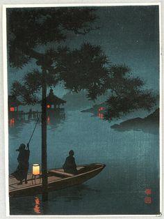 Shoda Koho  'Lake Biwa'  #woodblockprint
