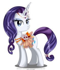 Another May Festival pony <33 Rarity's design is one of my favorite now  She had jewels on her hooves too but I didn't like it so removed them.  Her flowers are these, Orchid Plea...