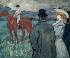 At the Races by @artistlautrec #postimpressionism