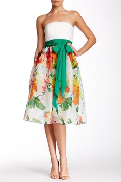 JS Boutique | Strapless Floral Print Dress | Nordstrom Rack