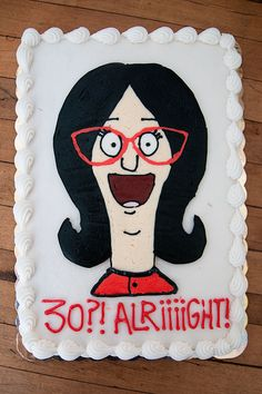 I turned thirty last month. I could have celebrated my new decade with a boring, fancy pants cake. Instead, I reverted and went with a cartoon. I LOVE Bob's Burgers. Do any of you watch it? I think it's one of the most charming shows on television. Laughter, awkwardness, weirdness -- and stories of…
