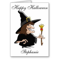#Witch Just Add Name #Personalized #Halloween-Card