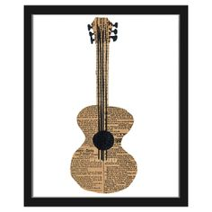 Pour Les beaux-freres....INSTRUMENTS - DENISE FIEDLER | music art, print, collage | UncommonGoods