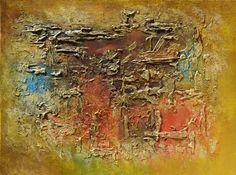GOLDEN DREAMS - RICHLY TEXTURED ORIGINAL ABSTRACT