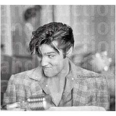elvisanddenise:   Elvis, silly face  New to me... - Elvis never left