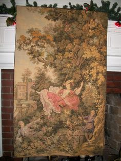 Vintage 18th Century French Chateau Tapestry