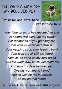 Dog Memorial | ... the words of the poem click on the picture example of dog memorial