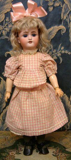 "Hello Gorgeous! 18"" Heinrich Handwerck Daisy Antique Doll w/ Original from kathylibratysantiques on Ruby Lane"