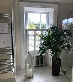 3 panel cafe style shutter with a louver and centre tilt rod. Cafe Style Shutters, Sash Windows, It Is Finished, Curtains, Tilt, Centre, Inspiration, Furniture, Home Decor