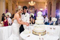 Wedding Cake | Biltmore Ballrooms Wedding | Atlanta Wedding | Ballroom Wedding | Garter and Whiskey Ballroom Wedding, Ballrooms, Wedding Garter, Atlanta Wedding, Special Events, Whiskey, Wedding Cakes, Reception, Wedding Dresses