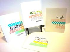 washi tape cards  http://wishywashi.com