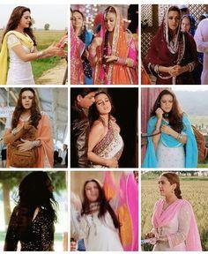 Preity zinta Shahrukh Khan And Kajol, Preity Zinta, Hollywood Couples, Madhuri Dixit, Indian Movies, Aishwarya Rai, Indian Attire, College Outfits, Traditional Outfits