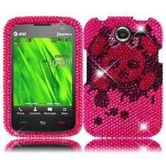 Insten Plastic Diamond Bling Beads Crystal Cover Phone Case Cover for Pantech Renue P6030