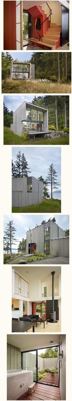 단순 깔끔한 모던스타일 소형주택 - Daum 부동산 커뮤니티 Good House, My House, Mini Cabins, Tiny House Plans, House Goals, Modern House Design, Interior And Exterior, Small Spaces, New Homes