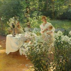 1889 Phlox ~ Gaston Latouche ~ (French, 1854-1913)