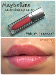 """The Happy Sloths: Maybelline Color Elixir Lip Color in """"Blush Essence"""" & Super Stay 14hr Lipstick in """"Perpetual Peony"""": Review and Swatches"""
