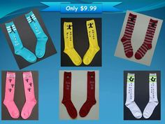 Get your favorite socks for only $9.99!  Brighten up your workouts with our fun, colorful socks.  We have fitness themes for all kinds of workouts!  #lookgoodwhileyousweat  Visit www.etsy.com/shop/fitdominators to order yours today!  Follow us on Instagram @fitdominators #funsocks #fitness #exercise #workout #workoutapparel #fitchick #fitmom #cardio #gymclothes #gym #fitnesslover #colorfulsocks #wod #crossfit #girlsthatlift #strong #beactive #instafit