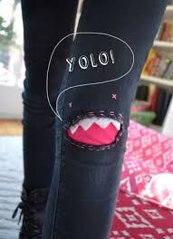 jean knee patches diy - Google Search