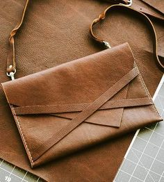 Leather Envelope Purse | Easy to grab, easy to close — no fuss over here. This leather ... | Clutches & Special Occasion Bags