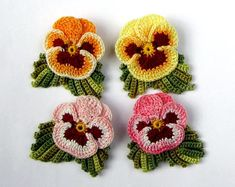Your place to buy and sell all things handmade Hand Dyed Flower Pin Irish Crochet Flower Brooch Womens Gift Fiber Art Brooch Crochet Jewelry Crochet Brooch Crochet Flower Tutorial, Crochet Flower Patterns, Flower Applique, Crochet Flowers, Knitting Patterns, Irish Crochet, Diy Crochet, Crochet Doilies, Crochet Brooch