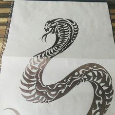 Tribal cobra tattoo design.  To go on calf next to tribal dragon tattoo.