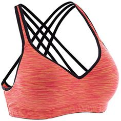 0ae8f063fc ATTRACO Women s Sports Bra Light Support Wireless Running Bra XL 2XL    Check out this great