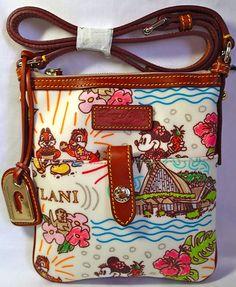 New Disney Aulani Hawaii Dooney & Bourke LETTER CARRIER Crossbody Purse Bag picclick.com