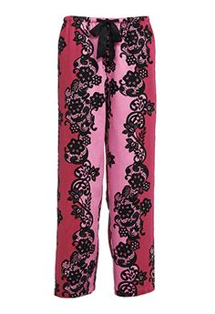 $49 Burgundy Lace Stripe Pant from Peter Alexander