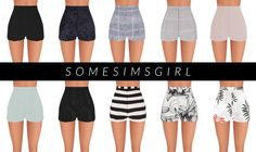 Desiree Shorts! • high waisted elegant shorts for your Sims • comes in 12 patterns • standalone • custom thumbnail • read my TOU! DOWNLOAD If you use it please tag #somesimsgirl!