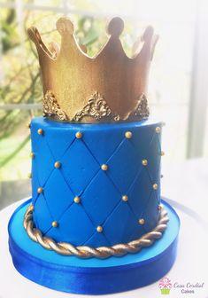 Prince Birthday Party, Baby Boy 1st Birthday Party, First Birthday Cakes, Prince Cake, Royal Prince, Royal Cakes, Bolo Minnie, Baby Shower Cakes For Boys, Noah