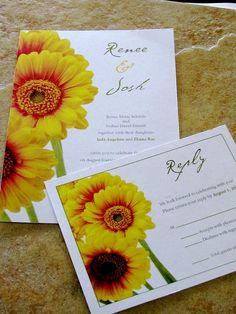 Spring Daisy Wedding Invitation by alarish on Etsy, $3.00