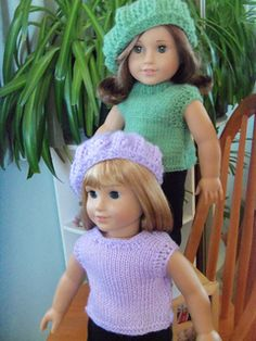 Tank Top for American Girl Dolls pattern by Janet Longaphie