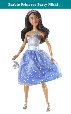 Barbie Princess Party Nikki Doll. Every girl wants to be a Barbie® princess and with our Barbie Glitter Princess Doll this fairytale takes on a decidedly different twist! A Barbie® princess rules her kingdom with beauty and brains, style and substance-seeking adventures that take her from pink carpet star to hometown heroine to caring for the planet-all in time, of course, for the evening ball! Barbie® princesses are dressed in fun, fashionable party dresses covered in a glitter…
