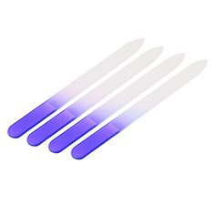 4pcs/Lot Durable Nail Files Crystal Glass Nail Buffer Manicure Nail File Purple