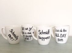 New Girl Schmidt Classic Quotes Mug by PaintedHomeGoods on Etsy