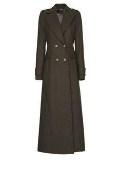 MANGO - Military-style long coat