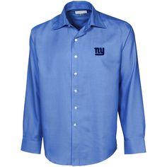 Cutter & Buck New York Giants Light Blue Epic Long Sleeve Button-Down Shirt - $63.99
