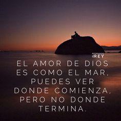 El amor de Dios es como el mar puedes ver donde comienza, pero no donde termina. #Dios #Jesus #Jesucristo #Cristo #EspirituSanto #Jehova #Amor #AmordeDios #Amen #Cristianismo #Avivamiento #FrasesdeFe #FrasesdeDios #FrasesCristianas #Esperanza #Frases #Cielo #Fe #GraciadeDios #Mar #InfinitoAmor #AmorDelBueno #AdorandoalRey