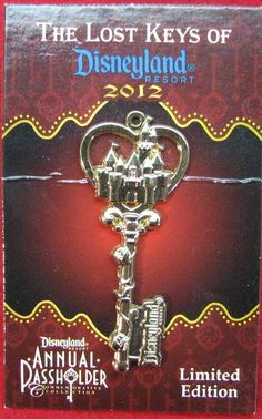 Annual Passholder Unlock Magic Lost Keys Sleeping Beauty Castle LE Disney Pin