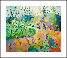 """Wildflowers along the Brazos River, 10 x 12"""" , limited edition giclee print, signed, numbered"""