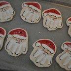 How to.... Hand Print Santa Ornaments