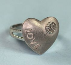 Hey, I found this really awesome Etsy listing at https://www.etsy.com/listing/219411834/sterling-love-heart-ring-diamond-accent