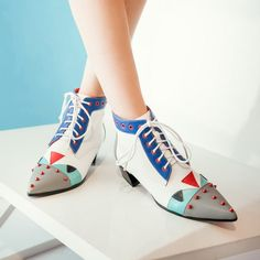 Available Now on our store:  Women Boots Plus ... Check it out here ! http://mamirsexpress.com/products/women-boots-plus-size-32-43-med-hoof-heels-lace-up-pointed-toe-classic-pumps-fashion-woman-shoes-red-gray?utm_campaign=social_autopilot&utm_source=pin&utm_medium=pin