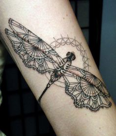 intricate dragonfly tattoos