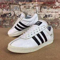 adidas Originals mens TRAINER White/Black sz 8 Rare Vintage Sneaker US 8.5 EU 42  | eBay