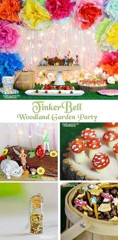 TinkerBell Woodland Garden Party!  Easy Fairy theme party idea!