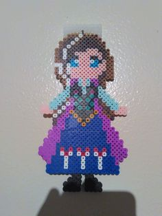 Anna Badge - Frozen perler beads by FluffyRosey