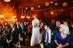 love this idea of a photo coming down the isle...it would be great to have one of the bride and one looking back at the groom