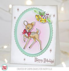 Caryn Davies for Avery Elle Supplies: Kitsch Christmas Clear Stamps Kitsch Christmas Elle-ments Dies Retro Ornaments Clear Stamps Sweet Scallops Elle-ments Dies